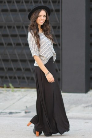 black maxi Furor skirt - black litas Jeffrey Campbell shoes