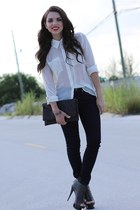 gray Shoedazzle shoes - navy skinny Forever 21 jeans