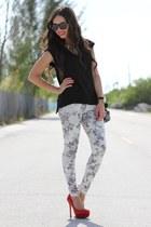 black Furor shirt - black Mimi Boutique bag - black Furor sunglasses