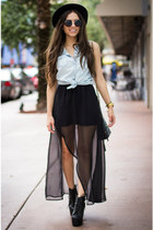 black sheer furor moda skirt - black litas Jeffrey Campbell shoes