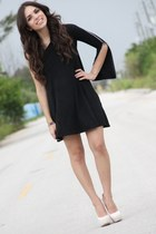 black Furor dress - white Shoedazzle shoes