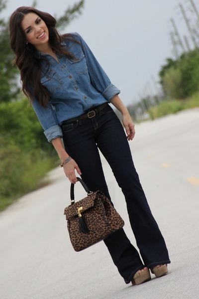 Blue Denim Shirt Forever 21 Shirts, Tan Nude Xiomara Lisette Shoes ...