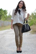 A classic take on leopard jeans