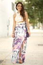 Deep-purple-ted-baker-bag-nude-shoedazzle-wedges-white-furor-moda-top