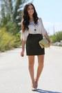 Cream-sienna-ray-bag-black-diamond-petal-necklace-green-vintage-skirt