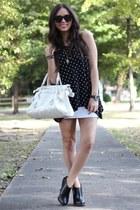 black polka dot felicee shirt - black nevena Dr Martens boots