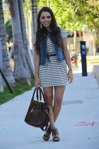 dark brown Forever 21 shoes - white Forever 21 dress - dark brown Mimi Boutique