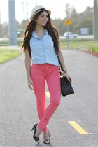 salmon Gap jeans - black cap toe lovely pepa x krack shoes