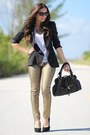 Gold-mng-by-mango-jeans-black-zara-blazer-white-forever-21-shirt