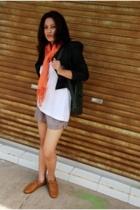 Esprit pants - scarf - t-shirt - blazer - shoes
