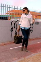 castaner boots - J Brand jeans - Adolfo Dominguez jacket - Louis Vuitton bag