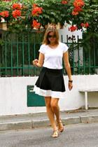 dior sunglasses - H&M skirt - Massimo Dutti t-shirt