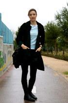 Geox boots - Love sex money coat - Giorgio Armani bag - H&M shorts