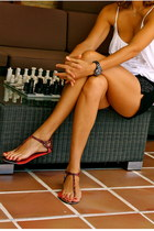 H&M shorts - 213 t-shirt - Zara sandals