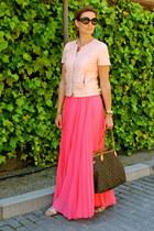 Mango skirt - Zara jacket - Prada sunglasses