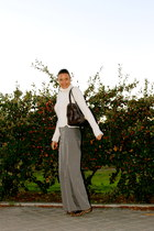 Zara sweater - Giorgio Armani bag - sita murt pants - Pretty Bailarinas flats