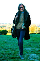 lurueña boots - Georges Rech coat - J Brand jeans - Mango sweater