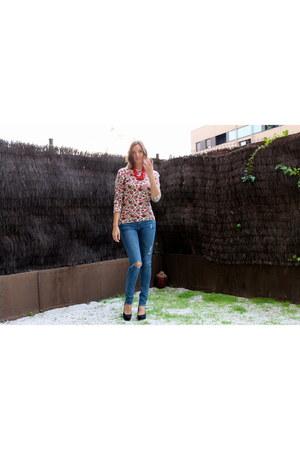 BLANCO cardigan - H&M jeans - LookXart heels
