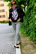 H&M jacket - dior sunglasses - Pretty Ballerinas flats - Zara t-shirt