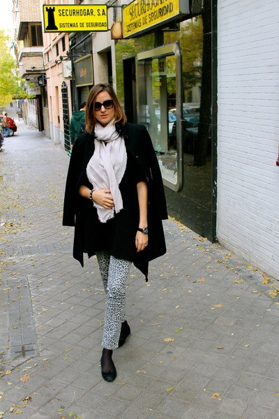 phard coat - H&M jeans - Topshop sweater - dior sunglasses