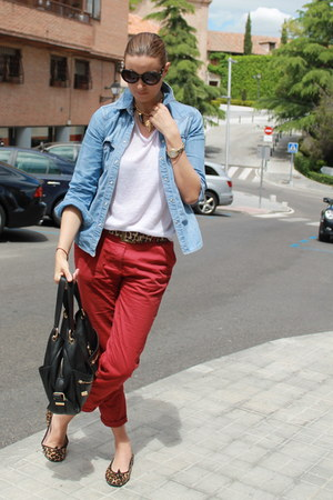 Mango shirt - Michael Kors bag - Prada sunglasses - Primark pants