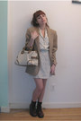Crimson-dr-martens-boots-white-topshop-dress-tan-vintage-blazer-cream-zara