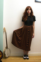 black vintage dress - black Candela NYC shoes