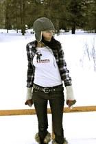 navy Target shirt - navy Gap jeans - black Sorel boots - black Michael Kors brac
