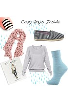 TNA sweater - modcloth scarf - Topshop accessories