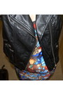 Brick-red-cathedral-romwe-dress-black-leather-h-m-vest