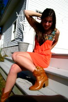 orange Debbie miller dress - orange Bamboo boots