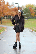 platform solestruck x jeffrey campbell boots - furry H&M Trend coat