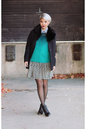 ombre H&M sweater - Rachel Comey shoes - Forever 21 dress
