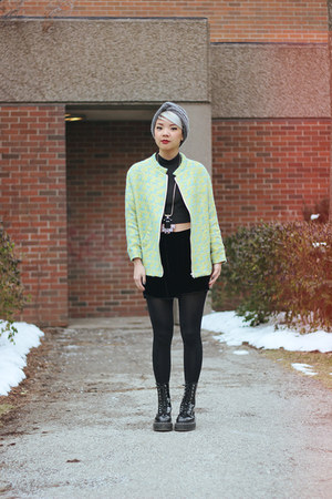 American Apparel top - Aritzia hat - H&M jacket - Aritzia shorts