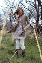 purple Fire LA dress - purple Brass Plumb top - brown happening in the present c