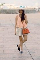 Zara top - shoes - Prada bag - J Crew necklace - skirt