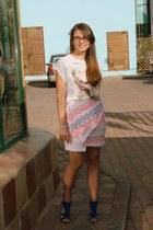 light pink Zara skirt