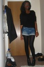 Black-j-uniqlo-cardigan-blue-h-m-shorts-black-urban-outfitters-t-shirt-bl