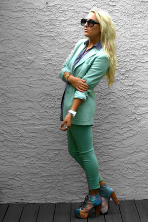 Max Mara blazer - pants - cosmic litas Jeffrey Campbell heels