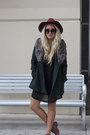 H-m-dress-nasty-gal-coat-h-m-hat-oxfords-frye-flats