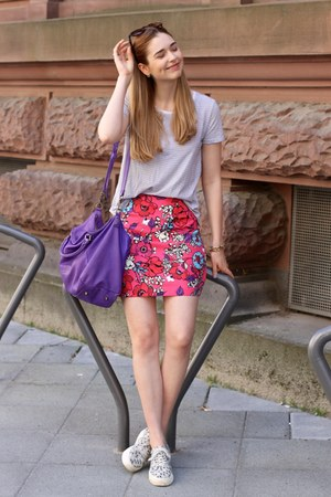 hot pink mini skirt skirt - purple liebeskind purse