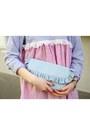 Bubble-gum-striped-asos-dress-light-blue-ruffles-asos-bag