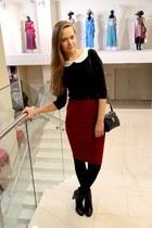 brick red Topshop skirt