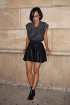 black leather Low Classic skirt