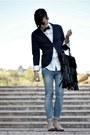 Sky-blue-skinny-zara-woman-jeans-white-pois-zara-shirt