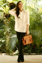 cotton on bag - 11th of October blouse - Shop Like Amanda heels