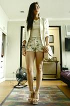 vintage shirt - H&M bag - Forever 21 shorts - Parisian heels