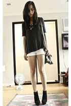 Zara shirt - Forever 21 shorts - Forever 21 necklace