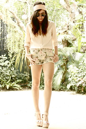 Parisian shoes - Forever 21 shorts - Forever 21 accessories