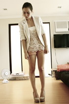 SM blazer - Forever 21 shorts - Zara top